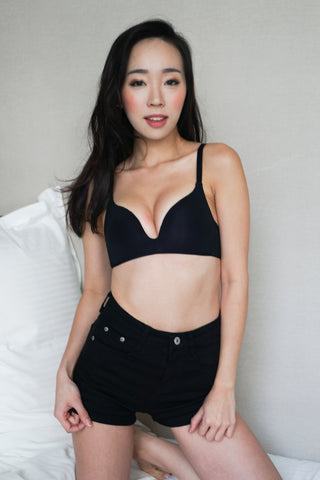 Basic Wireless T-Shirt Bra (Black)