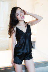 Open Back Ribbon 2pcs Set (Black)