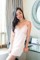 Lace Mesh Sleep Dress (Pink)