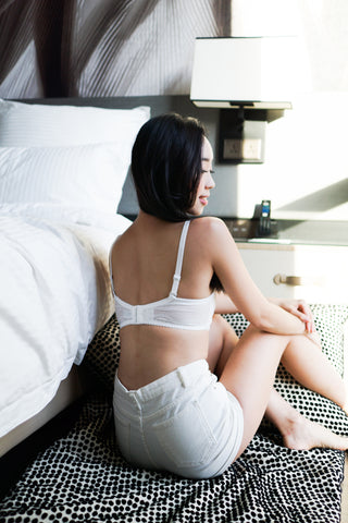 Sweet Ribbon Bandeau Bra (White)