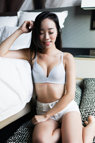 Textured Wireless Bra (Grey)