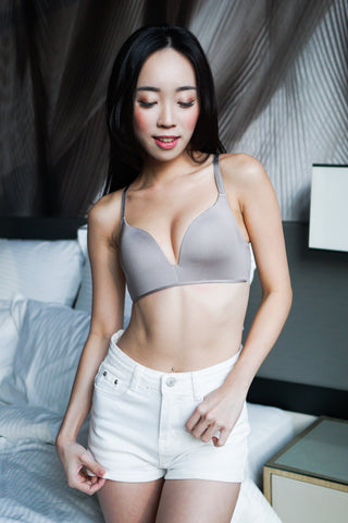 Basic Wireless T-Shirt Bra (Grey)
