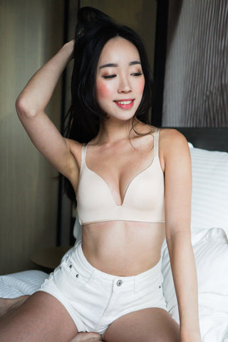Basic Wireless T-Shirt Bra (Nude)