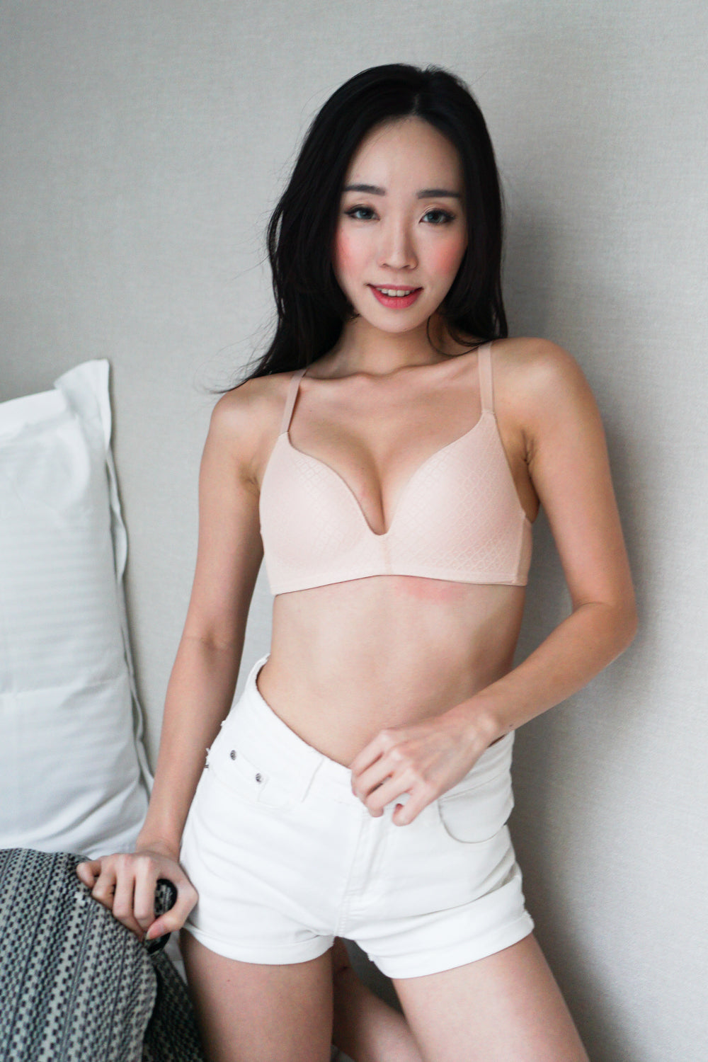 Textured Wireless Bra (Nude)