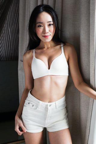 Textured Wireless Bra (White)