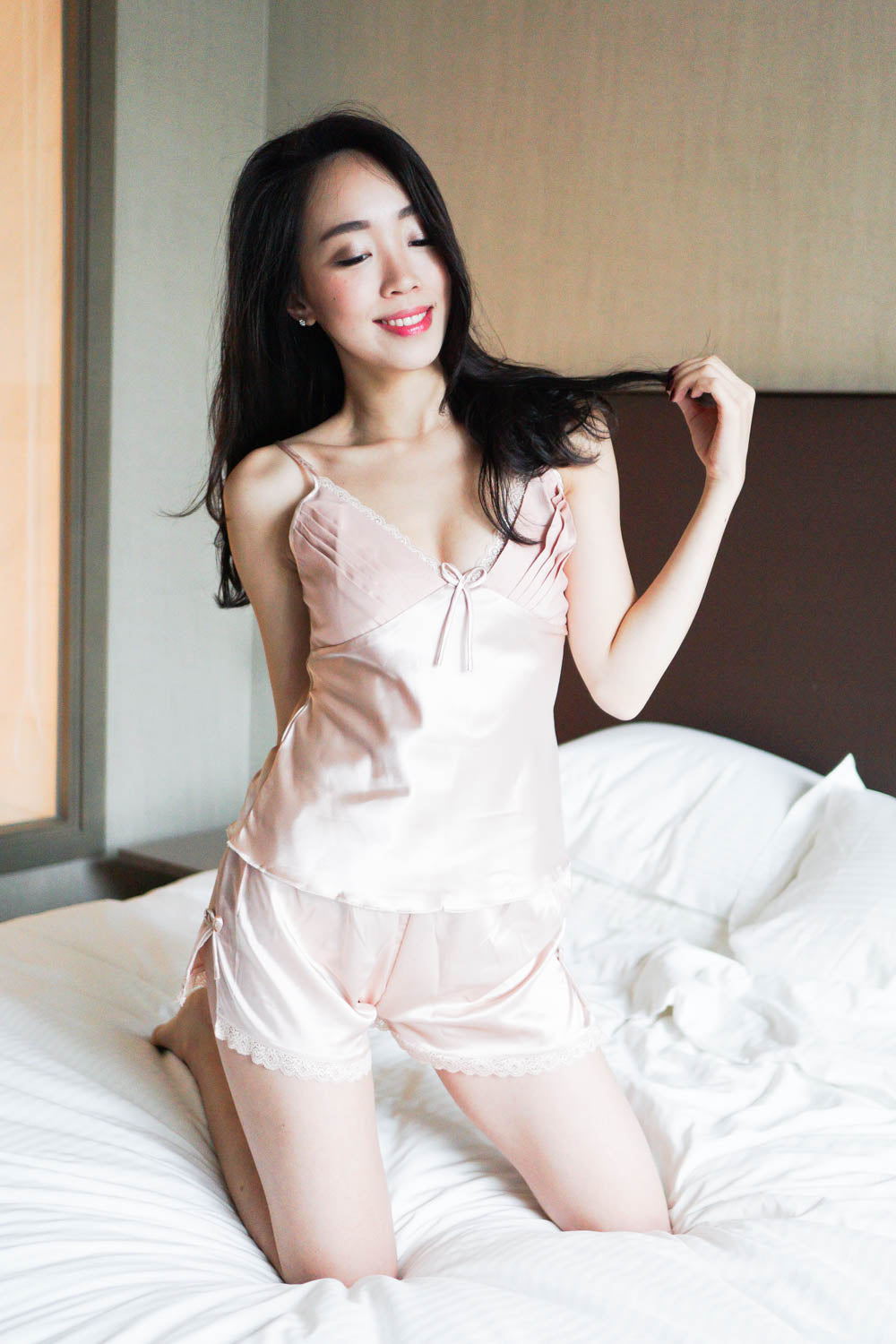 Open Back Ribbon 2pcs Set (Champagne)