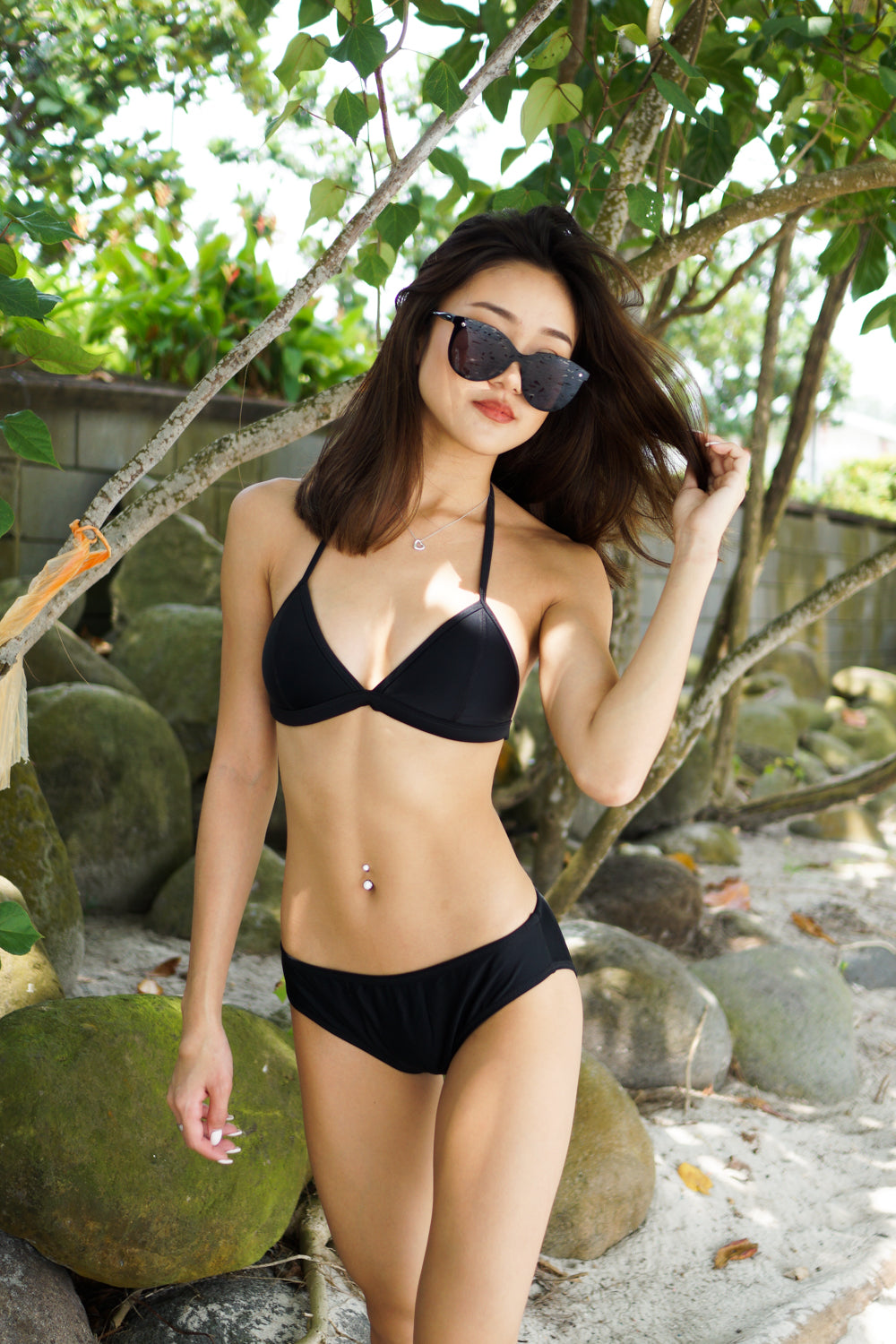 Outline Triangle Bikini (Black)