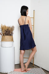 Tisha Lace Sleep Dress (Navy)