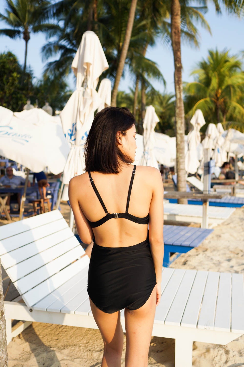 Open Back Cutout Monokini