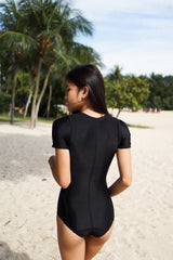 Black Zipper Monokini