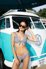 Gingham Ribbon V Bottom Bikini