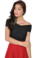 Candy Square Necklace (Fuchsia) -  - 1