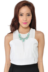 Petal Necklace (Mint) -  - 1