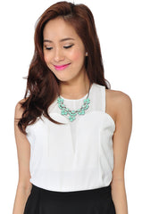 Petal Necklace (Mint) -  - 2