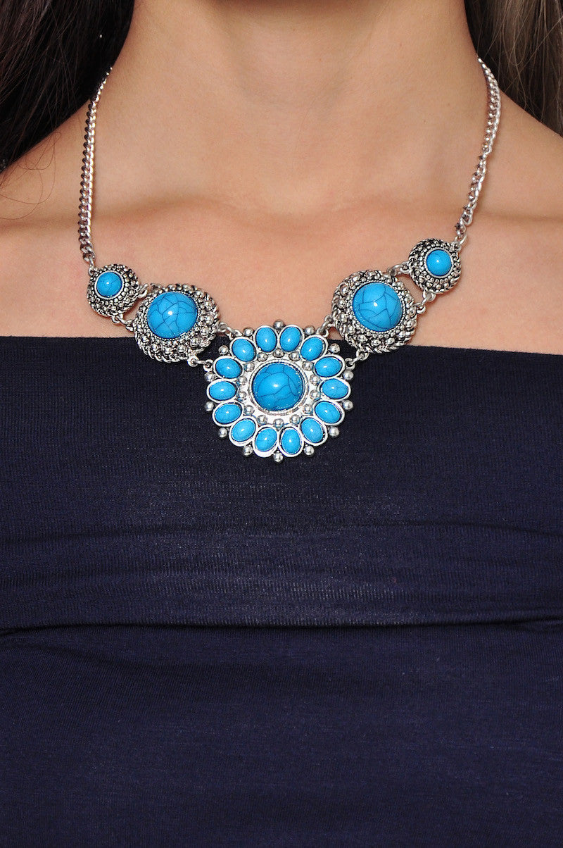 Sunstone Necklace (Blue) -  - 2
