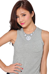 Sunstone Necklace (White) -  - 1