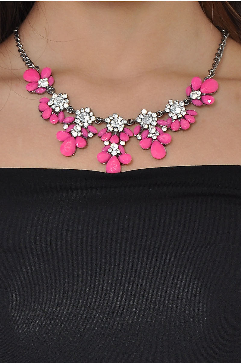 Neon Petal Necklace (Pink) -  - 3