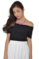 Neon Petal Necklace (Pink) -  - 4