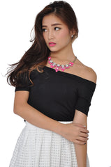 Neon Petal Necklace (Pink) -  - 1