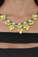 Neon Petal Necklace (Yellow) -  - 3