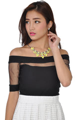 Neon Petal Necklace (Yellow) -  - 1