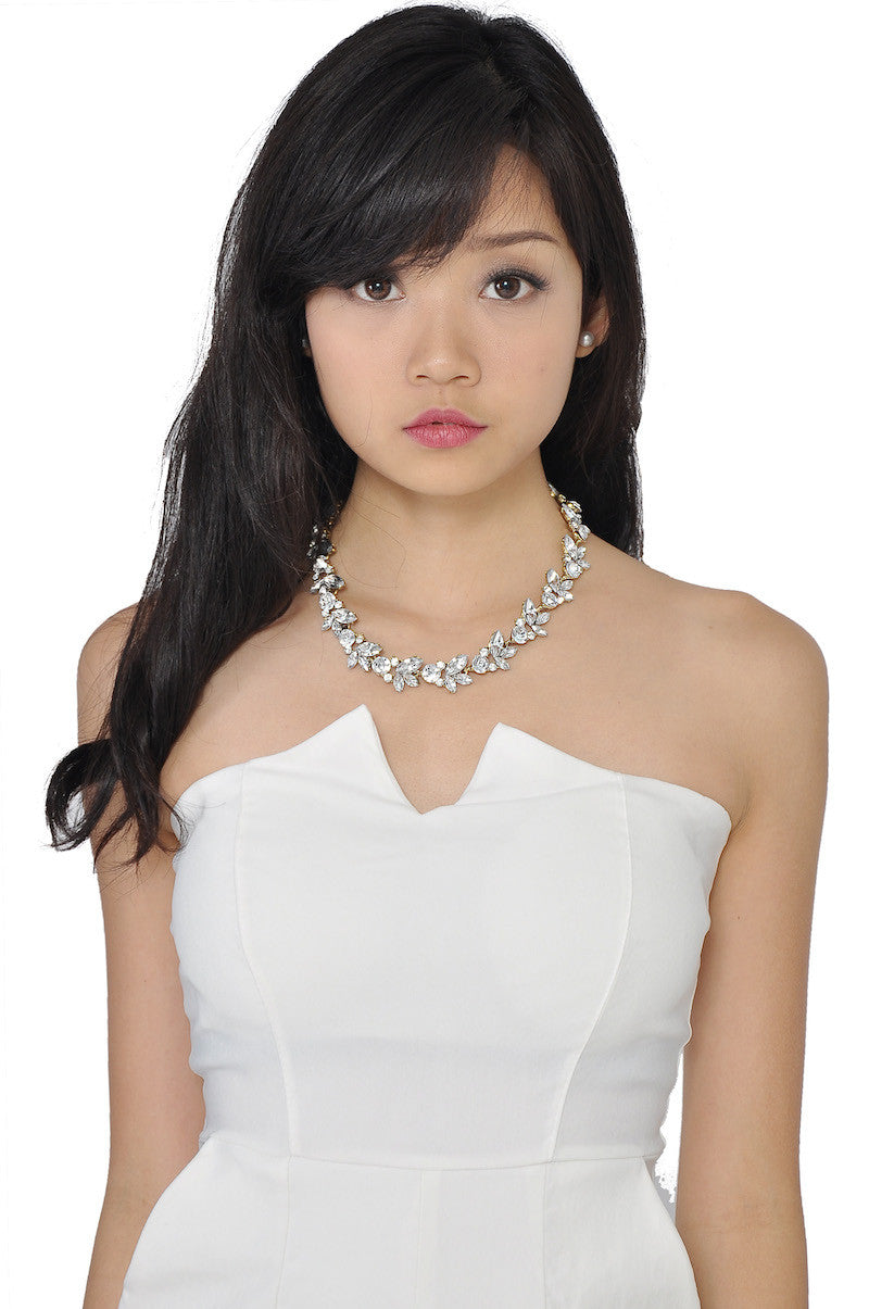 Silver Petal Necklace -  - 1