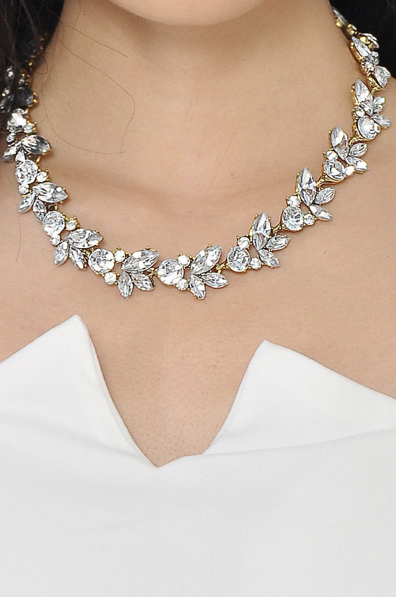 Silver Petal Necklace -  - 2