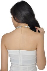 Silver Petal Necklace -  - 4