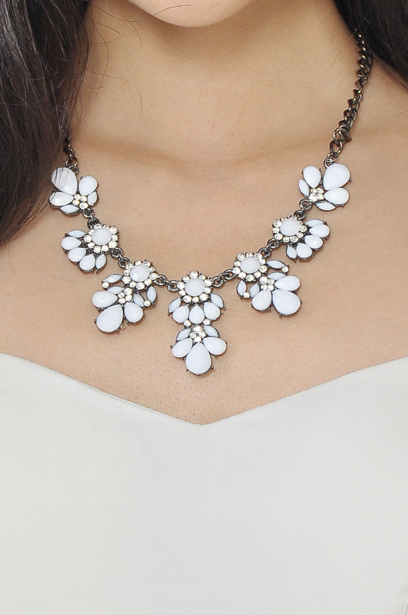 Petal Necklace (White) -  - 2
