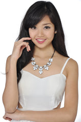 Petal Necklace (White) -  - 3