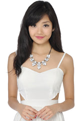 Petal Necklace (White) -  - 4