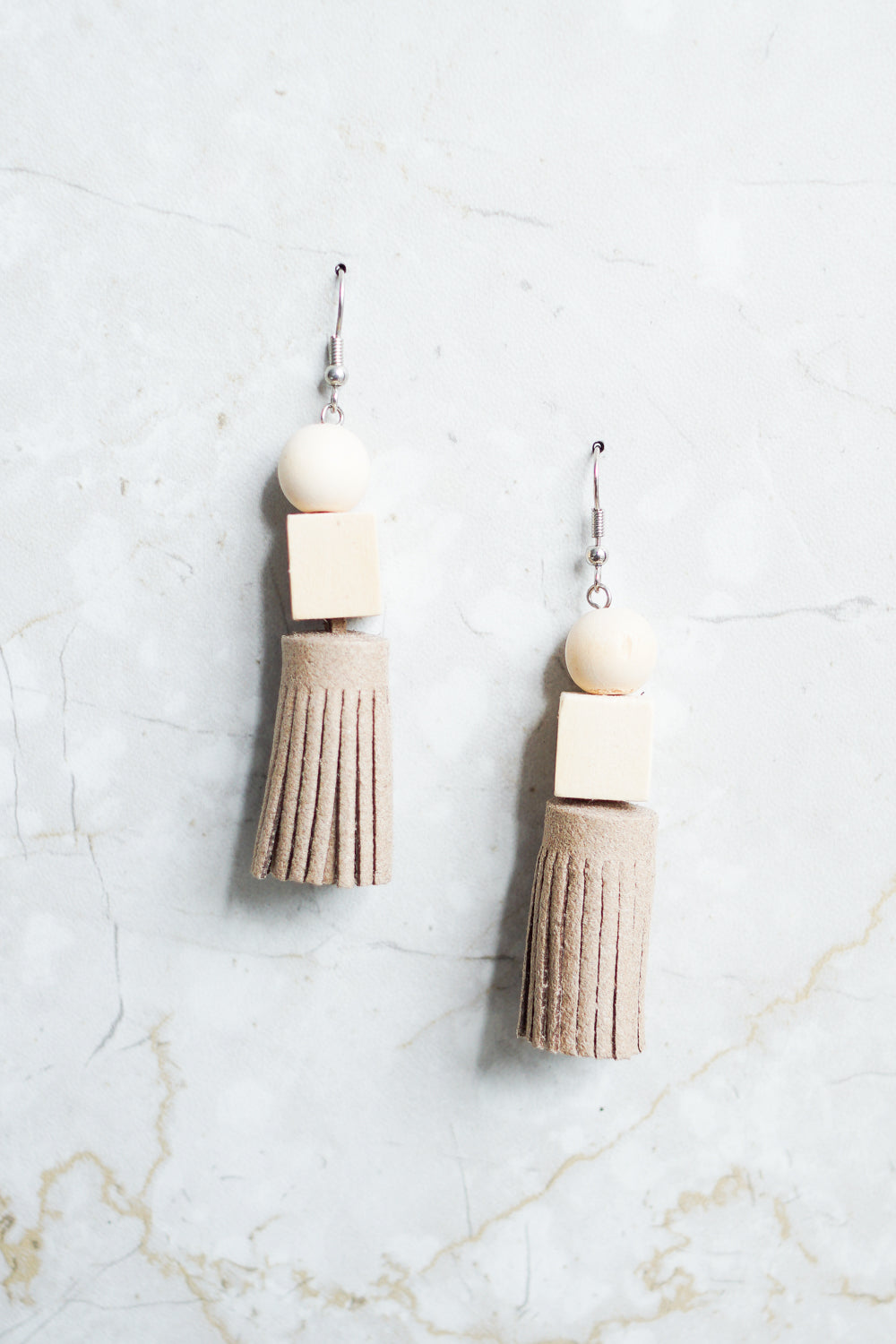 Deborah Brick Tassel Earring (Cream)