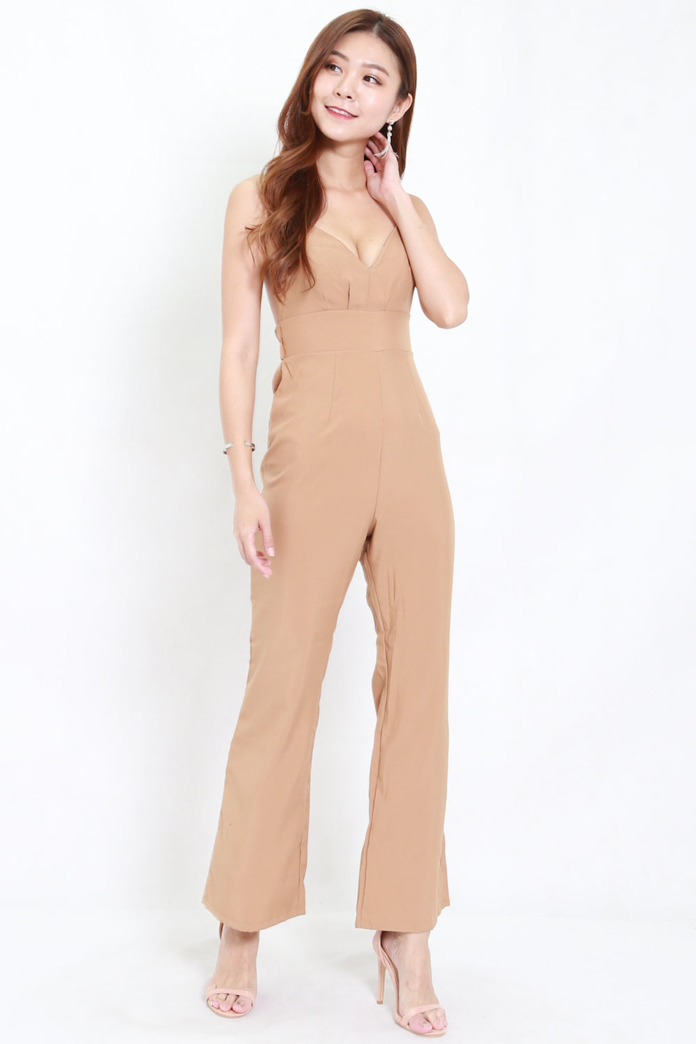 Double Strap Jumpsuit (Taupe)