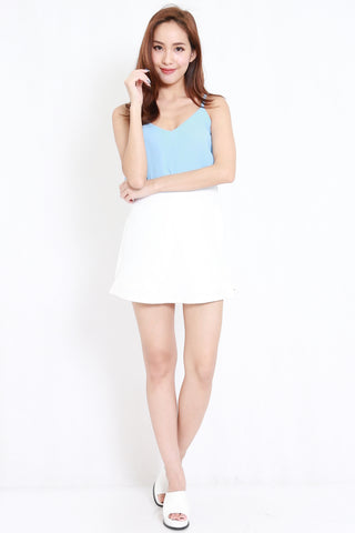 Duo Layer Chiffon Top (Blue)