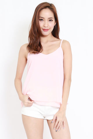 Duo Layer Chiffon Top (Pink)