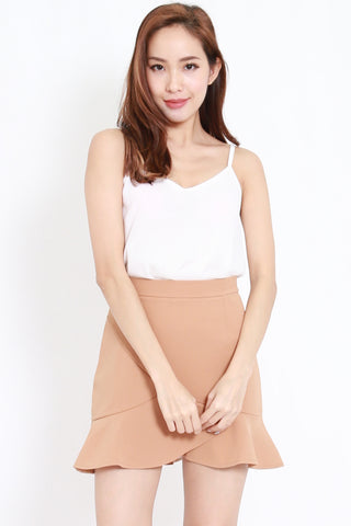 Duo Layer Chiffon Top (White)