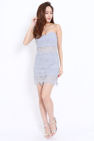 Eyelash Lace 2pcs Set (Grey)