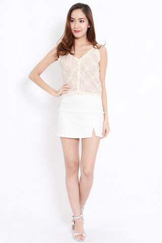 Flower Lace Top (Cream)