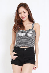 Gingham Crop Top