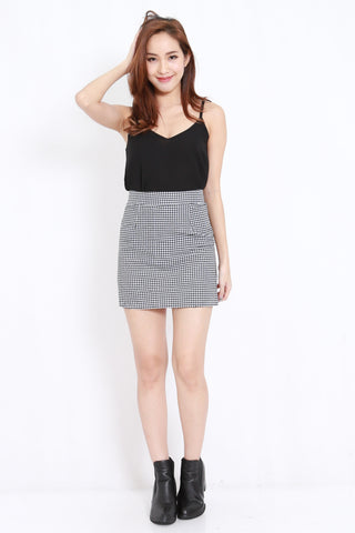 Gingham Fitted Skirt