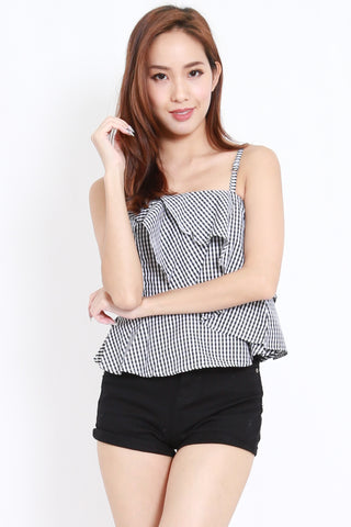 Gingham Ribbon Top