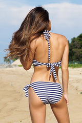 Halter Bikini (Thin Stripes)