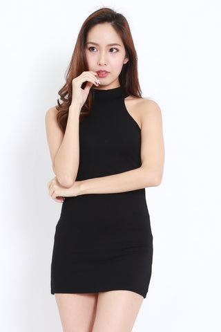Halter Mini Dress (Black)