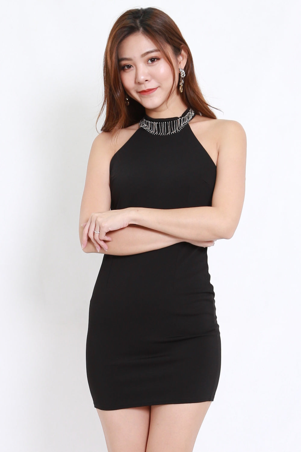 High Neck Chain Dress