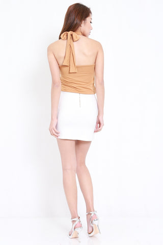 High Neck Halter Top (Camel)
