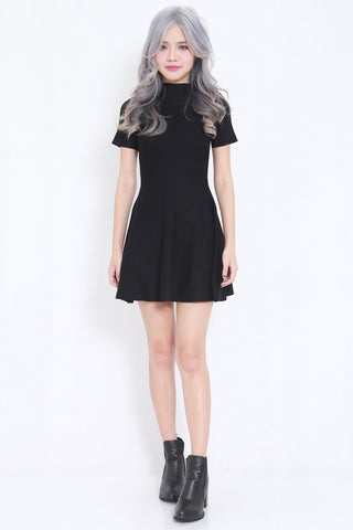 High Neck Skater Knit Dress