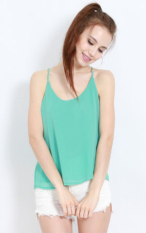 Holey Chiffon Top (Mint) -  - 1