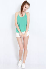 Holey Chiffon Top (Mint) -  - 2