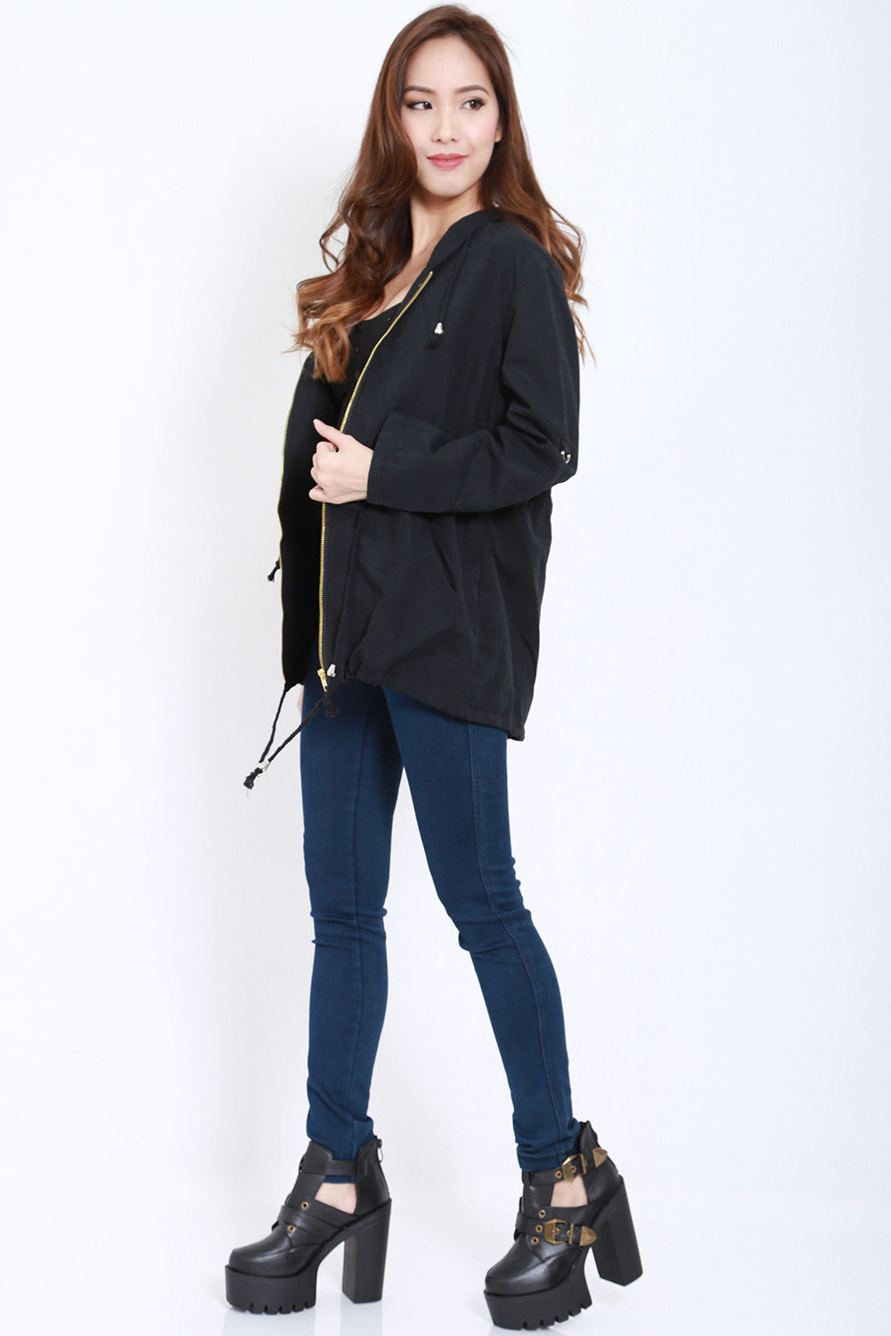 Hooded Parka (Black) -  - 6