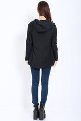 Hooded Parka (Black) -  - 7